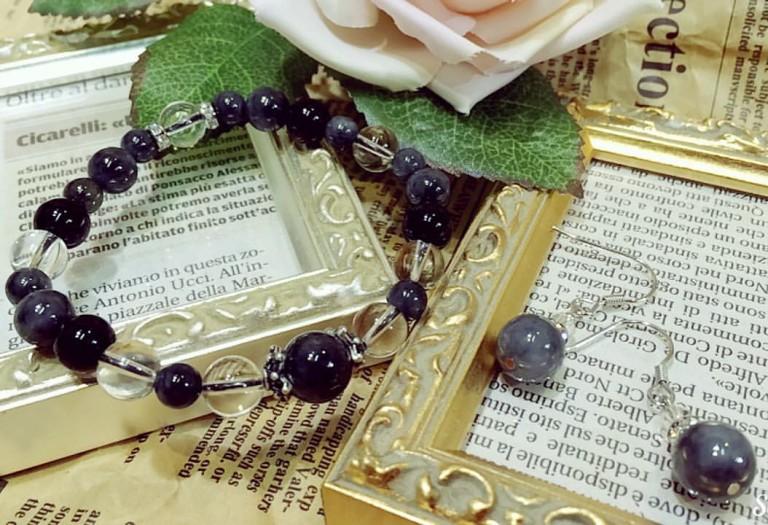 黒翡翠のブレスレット