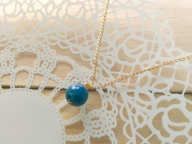 ブルーアパタイトのシンプルネックレス