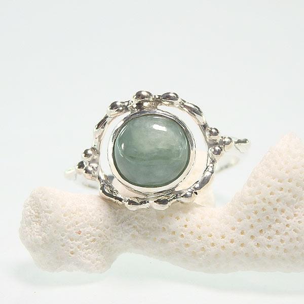 ビルマ翡翠のリング